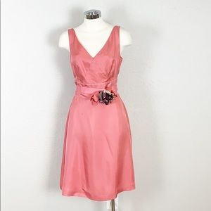 NWT BR Monogram Salmon Belted A-Line Dress